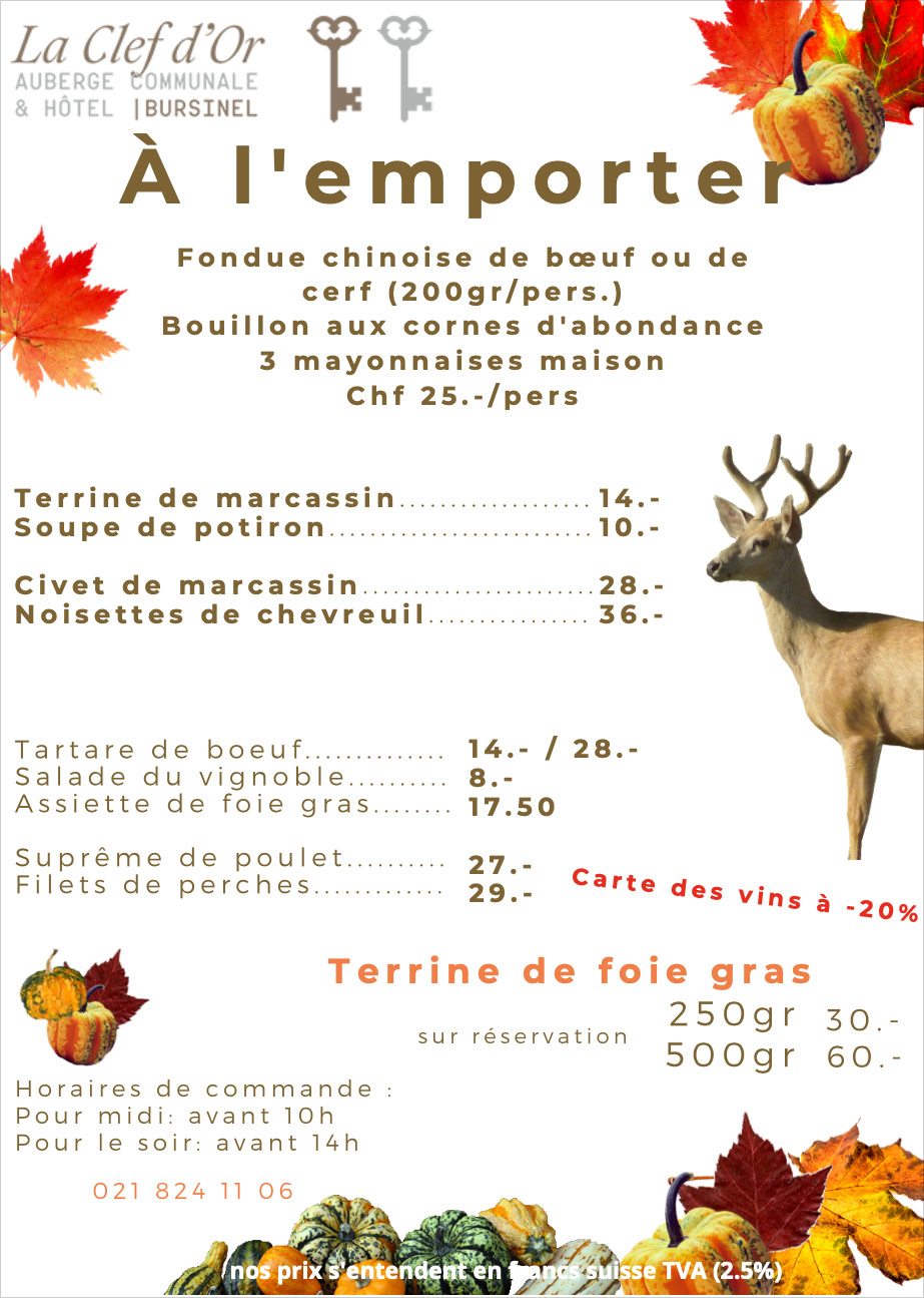 Flyer Chasse La Clef d'Or
